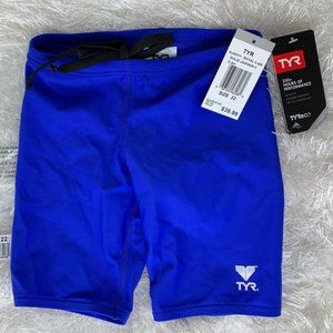 NWT TYR Jammers Swim Suit Blue Youth 22